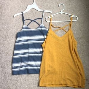 Blue + Yellow Tank top(s)